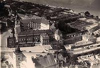 Zamek Królewski w Warszawie - Zamek na zdjęciu lotniczym z 1932 roku