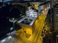 Zamek Ostrogskich w Warszawie - Zdjęcie z lotu ptaka, fot. ZeroJeden IX 2018
