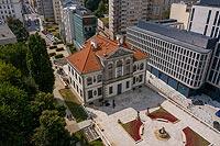 Zamek Ostrogskich w Warszawie - Zdjęcie lotnicze, fot. ZeroJeden, VII 2019