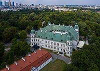 Zamek Ujazdowski w Warszawie - Zdjęcie lotnicze, fot. ZeroJeden, VII 2019