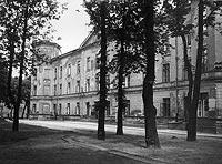 Zamek Ujazdowski w Warszawie - Zamek Ujazdowski na zdjęciu z okresu międzywojennego