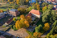 Zamek w Wąsoszy - Zdjęcie lotnicze, fot. ZeroJeden, X 2019