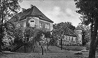 Zamek w Wąsoszy - Zamek w Wąsoszy na zdjęciu z okresu międzywojennego