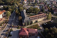 Zamek w Węgorzewie - Zdjęcie lotnicze, fot. ZeroJeden, IX 2021