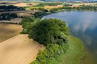 Zamek w Wieldządzu - Zdjęcie lotnicze, fot. ZeroJeden, VII 2020