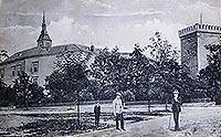 Zamek żupny w Wieliczce - Zamek w Wieliczce na zdjęciu z 1912 roku
