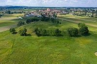 Zamek w Wiślicy - zdjęcie lotnicze, fot. ZeroJeden, VII 2020