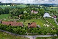 Zamek w Witostowicach - Zdjęcie z lotu ptaka, fot. ZeroJeden, V 2020