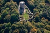 Zamek Wleń - Widok z lotu ptaka od północy, fot. ZeroJeden, X 2013