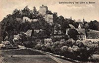 Zamek Wleń - Zamek Wleń na pocztówce z 1927 roku