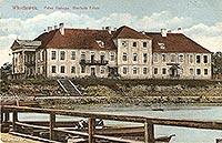 Zamek we Włocławku - Pałac we Włocławku na pocztówce z 1913 roku