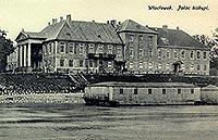 Zamek we Włocławku - Pałac we Włocławku na pocztówce z początków XX wieku