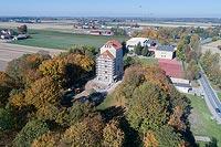 Wieża w Wojciechowie - Zdjęcie lotnicze, fot. ZeroJeden, X 2018