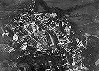 Zamek w Wołowie - Wołów na zdjęciu lotniczym z 1931 roku