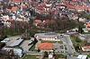 Zamek we Wschowie - Widok z lotu ptaka od południa, fot. ZeroJeden, IV 2013
