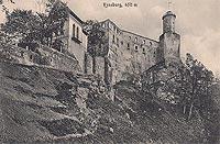 Zamek Grodno w Zag�rzu �l�skim - Zamek na widok�wce z 1917 roku