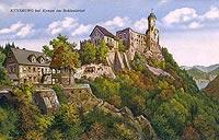 Zamek Grodno w Zag�rzu �l�skim - Zamek na widok�wce z okresu mi�dzywojennego