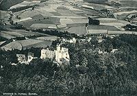 Zamek Grodno w Zagórzu Śląskim - Zamek w Zagórzu Śląskim na pocztówce z lat 1900-1904
