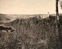 Zamek Grodno w Zag�rzu �l�skim - Zamek na poczt�wce z okresu mi�dzywojennego