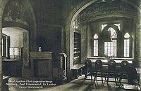 Zamek Rajsko w Rajsku - Wnętrza zamku Rajsko na zdjęciu sprzed 1945 roku