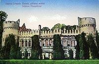 Zamek w Zawadzie - Zamek na widokówce z 1940 roku