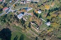 Zamek w Zawieprzycach - Zdjęcie lotnicze, fot. ZeroJeden, X 2018