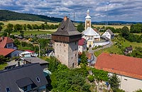 Wieża w Żelaźnie - Zdjęcie lotnicze, fot. ZeroJeden, VII 2019