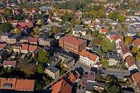 Zamek w Ziębicach - Zamek na zdjęciu lotniczym, fot. ZeroJeden, X 2020