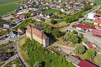Zamek w Zimnicach Małych - Zdjęcie z lotu ptaka, fot. ZeroJeden, V 2020