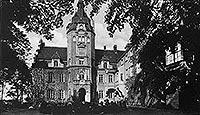 Zamek w Złocieńcu - Zamek w Złocieńcu na zdjęciu z okresu międzywojennego