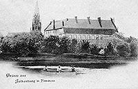 Zamek w Złocieńcu - Zamek w Złocieńcu na pocztówce z końca XIX wieku