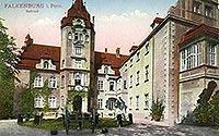 Zamek w Złocieńcu - Zamek w Złocieńcu na pocztówce z początków XX wieku