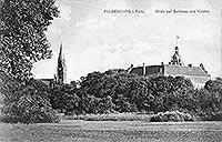 Złocieniec - Zamek w Złocieńcu na pocztówce z drugiego dziesięciolecia XX wieku