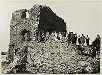 Zamek w Złotorii - Zamek w Złotorii na zdjęciu z około 1930 roku