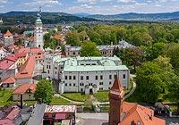 Zamek w Żywcu - Zdjęcie z lotu ptaka, fot. ZeroJeden, V 2020