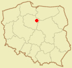 Lokalizacja zamku na mapie Polski